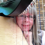 Joanne Griffith, director of the Northern Lights Harp Festival | Cymber Lily Quinn, Holistic Harpistry, San Jose, CA, and Hilo, HI